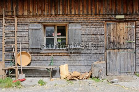 idyll seen in hopfreben near schoppernau