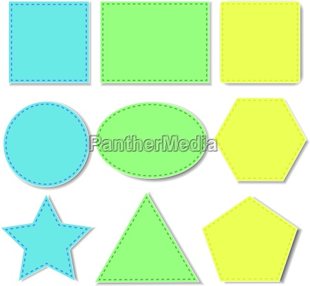 illustration of different shape sticker