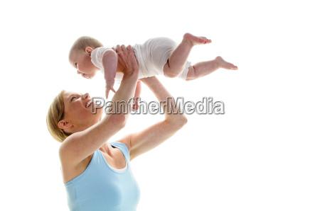 mother child sport