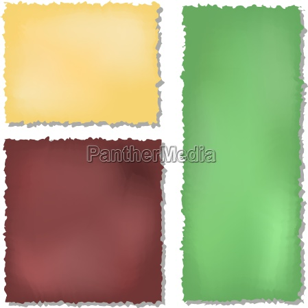 set of colour grunge papers background