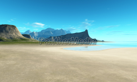 beach scenery background