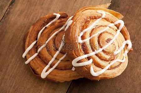 freshly baked flaky danish pastries