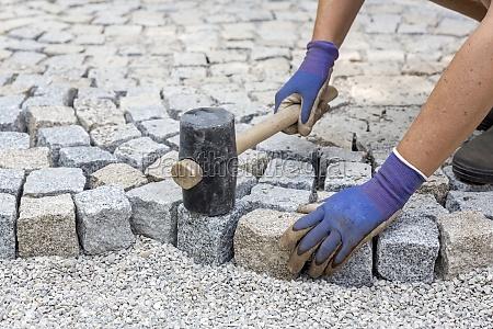 lay granite stones