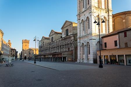downtown of ferrara trento and trieste