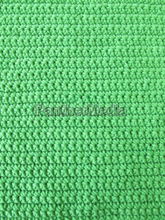 crochet from solid knitted in green
