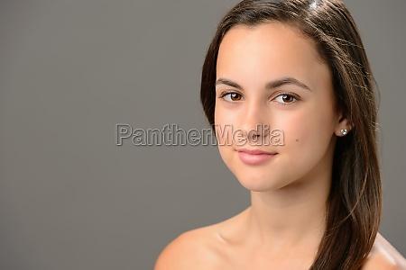beautiful teenage girl skin care cosmetics