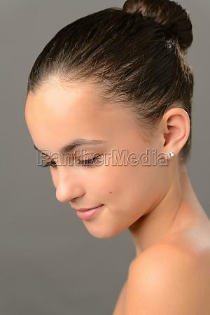 teenage girl purity skin beauty looking