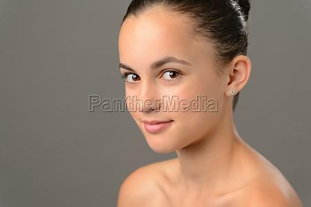 beauty face teenage girl cosmetics skin