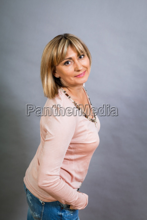 adult attractive middle aged woman
