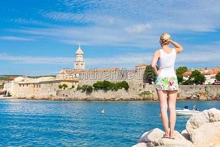 krk town mediterranean croatia europe