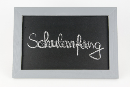 chalkboard school beginning