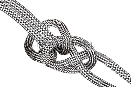 clove hitch knot on white