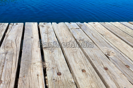 old bathing jetty made of wood