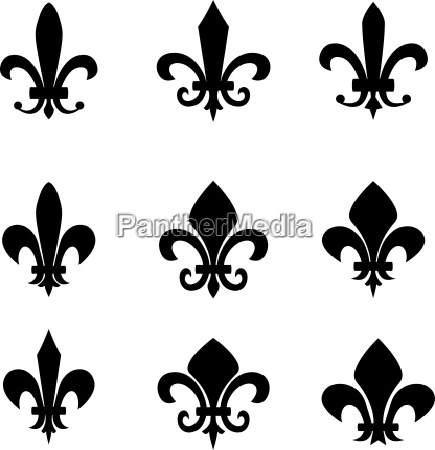 collection of fleur de lis symbols