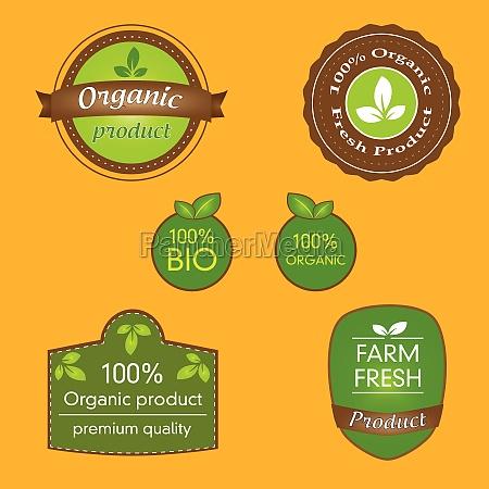 bundle of labels for bio organic