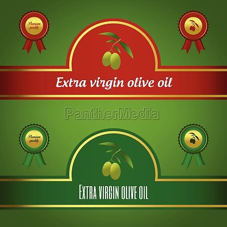 set of extra virgin olive oil