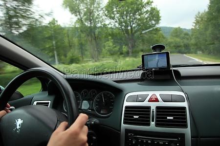 car satelite navigation system gps device