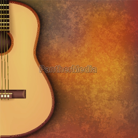 abstract grunge music background with guitar