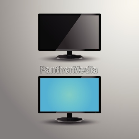 realistic illustration of an lcd monitor