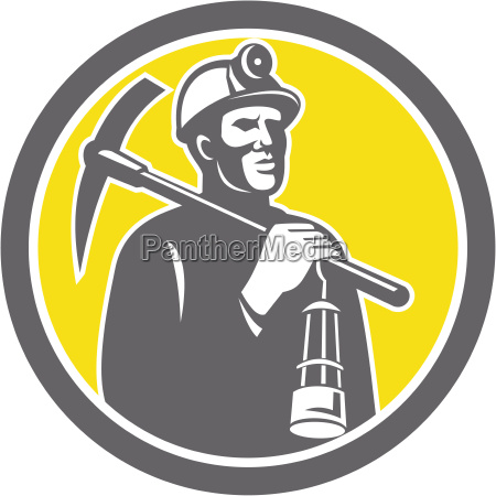 coal miner hardhat with pick axe