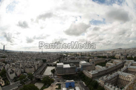 view from notre drame cathedral paris