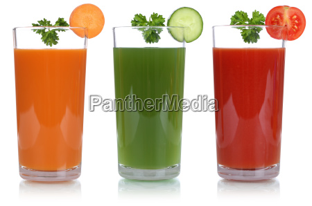 vegetable juice with carrot juice and