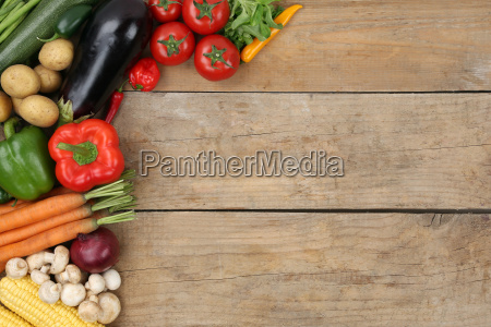vegetables with copy space
