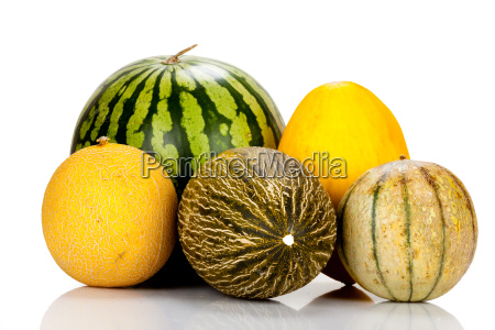 various ripe melon varieties