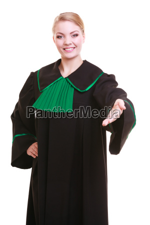 woman lawyer attorney wearing classic gown