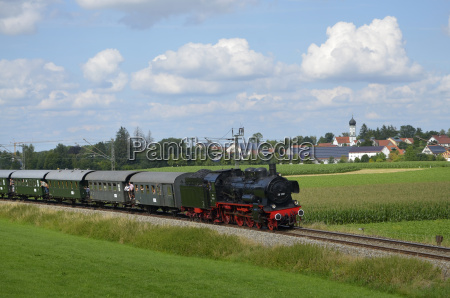 steam train on the ammersee railway