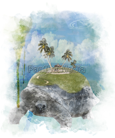 watercolor image of vacation concept