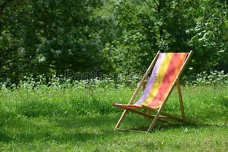 deckchair on the green