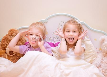 happy, kids, make, faces - 12022692