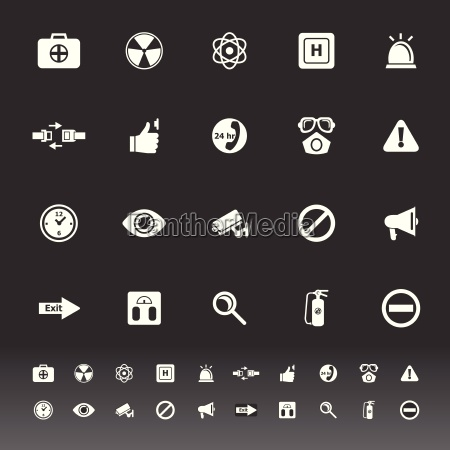 general healthcare icons on gray background