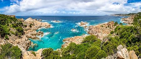 beautiful ocean coastline panorama in costa