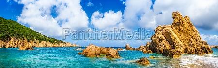 ocean coastline scenic panoramic view in