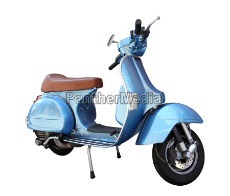 classic scooter isolated on a white