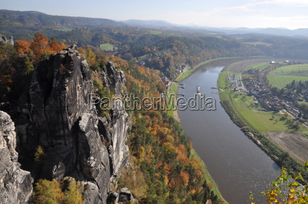view from the bastei to the