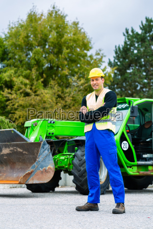 construction worker in front of a