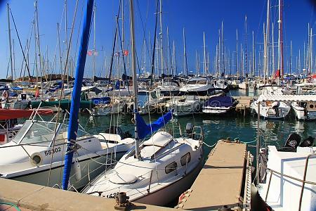 boat harbor on the mediterranean sea