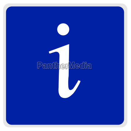 road sign blue white