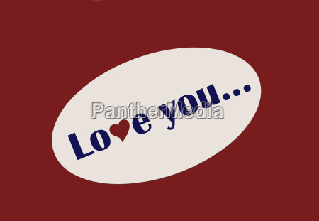 love you sticker