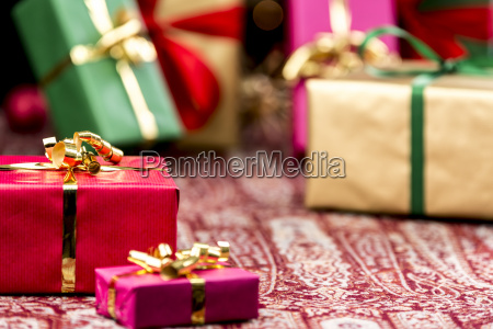 red present among other gifts