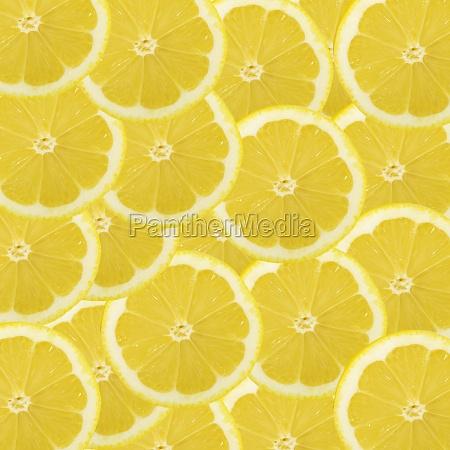 lemons slices as background