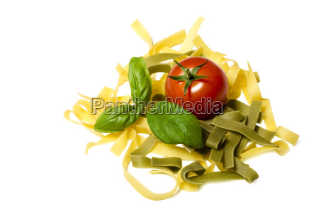 noodles and ingredients for a dish