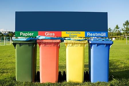 recycling mit abfalltonnen