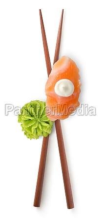 chinese sticks and sushi