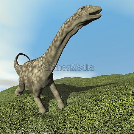 argentinosaurus dinosaur 3d render