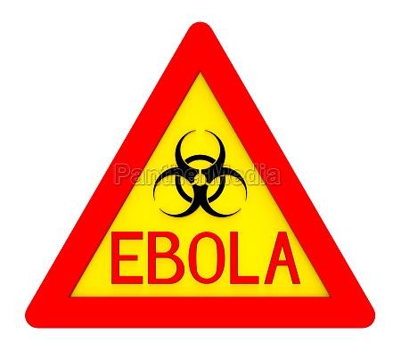 ebola biohazard sign