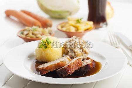 bavarian roast pork and wheat beer